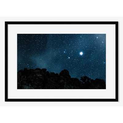 "Joshua Tree Night Sky - 38"" x 27"" - Framed, Mat - West Elm"