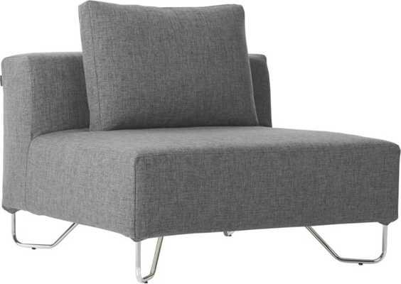 otus grey armless chair - CB2
