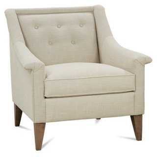 Hewett Accent Chair, Champagne - One Kings Lane