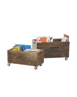 Rolling Storage Crates - Set of 2 - Serena and Lily
