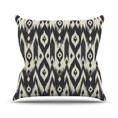 Tribal Ikat Outdoor Throw Pillow - Wayfair