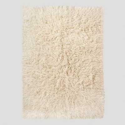 "Ivory Flokati Wool Rug - 8"" x 10"" - World Market/Cost Plus"