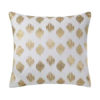 Ink+Ivy Nadia Dot Embroidered 18-inch Cotton Throw Pillow - Overstock