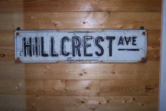 Hillcrest Street Sign - Etsy