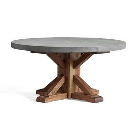 Abbott Concrete Top Round Coffee Table - Pottery Barn