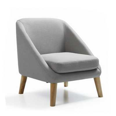 Hodedah Grey Accent Mid-century Style Chair - Overstock