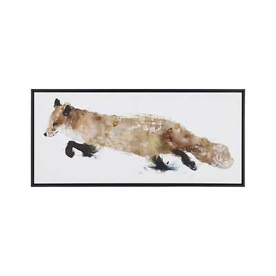"""Fox Print-50""""Wx2""""Dx22""""H-Black Frame - Crate and Barrel"""