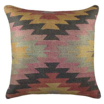 "Aztec Burlap Throw Pillow- 16"" - Polyester/Polyfill - AllModern"
