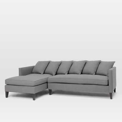 Dunham Down-Filled Left Chaise 2-Piece Sectional - West Elm