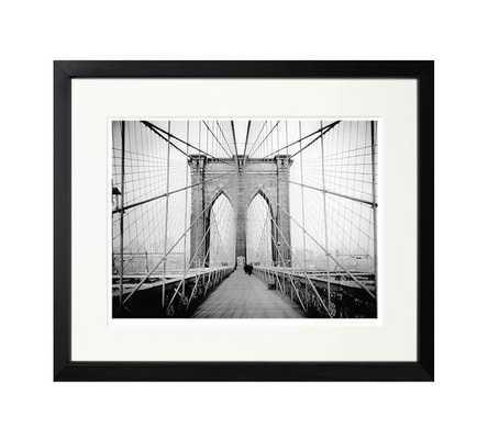 "The New York Times Archive - Brooklyn Bridge - 1914-20""x17""-Framed - Pottery Barn"