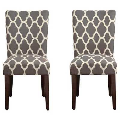 HomePop Parson Dining Chair- Gray Geo(Set of 2) - Target