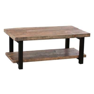 "Pomona 42"" Reclaimed Wood/Metal Coffee Table - Wayfair"