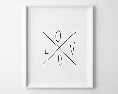 Love Kids poster-11x14-Framed - Etsy