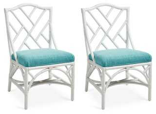 Caribbean Chippendale Side Chairs, Pair - One Kings Lane