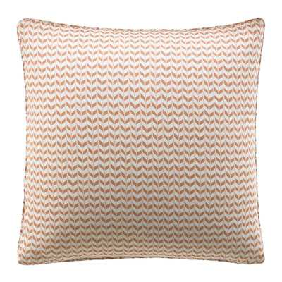 "Leaves Cotton Throw Pillow - Apricot - 18""sq. - Polyester insert - Wayfair"