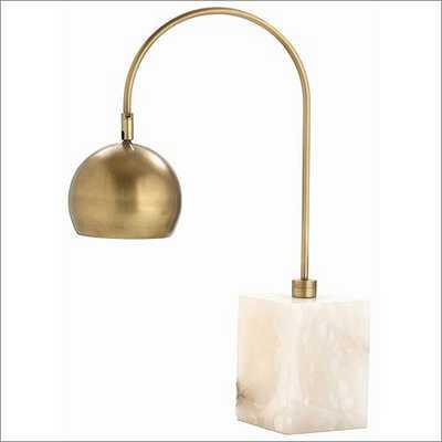 Arteriors Home Jana Brass Marble Adjustable Desk Lamp - vivedecor.net