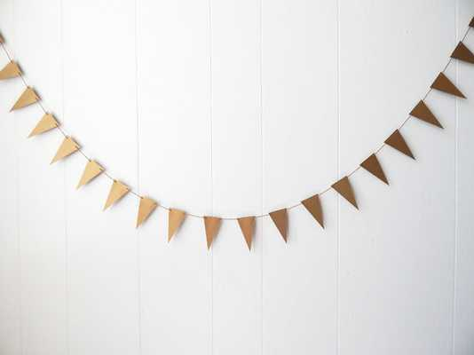 Gold Triangle Flag Garland - Etsy