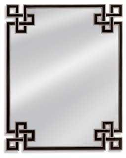 """50""""x56"""" Corner Detail Mirror, Black - One Kings Lane"""