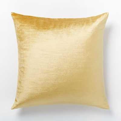 Luster Velvet Pillow Cover - Horseradish-20x20-Insert Sold Separately - West Elm