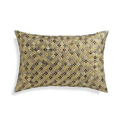 "Challita 18""x12"" Pillow with Feather-Down Insert - Crate and Barrel"