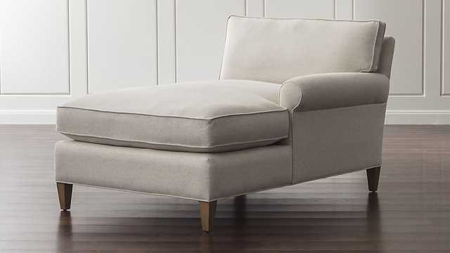 Montclair Right Arm Chaise - Crate and Barrel