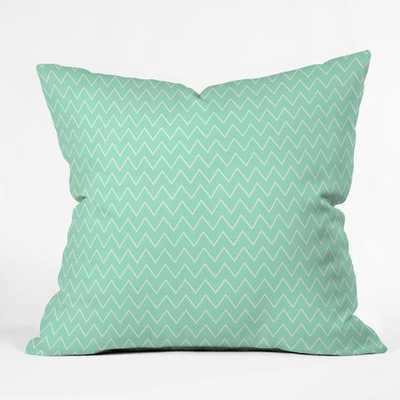 "CLASSIC MINT Throw Pillow, 20""Sq-Polyester Fill Insert - Wander Print Co."