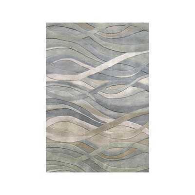 Alliyah Handmade Grey/Green New Zealand Blend Wool Rug - Overstock