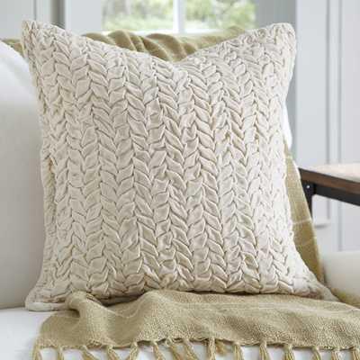 Allie Velvet Quilted - 20''Square - Ivory - Polyester fill - Birch Lane