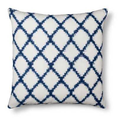 Threshold Throw Pillow Square Ikat Geometric Navy - Target