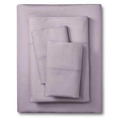 Elite Home Hemstitch Solid 400TC Sheet Set - Queen - Lilac - Target