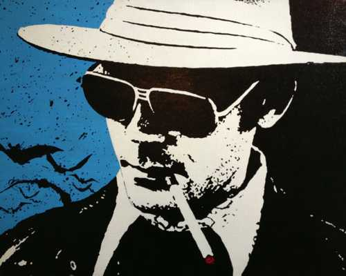 "Hunter S Thompson Pop Art Painting -  16"" x 20"" - Unframed - Etsy"