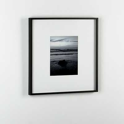 gallery black 8x10 picture frame. - CB2