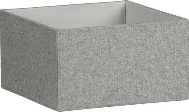 grey felt open storage box - CB2