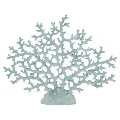 Coral Decor in Sky Blue - Wayfair