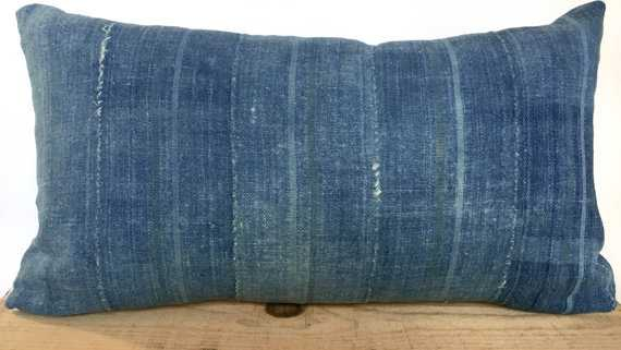 12x20 Inch Vintage Indigo African Mud Cloth Pillow Cover - Etsy