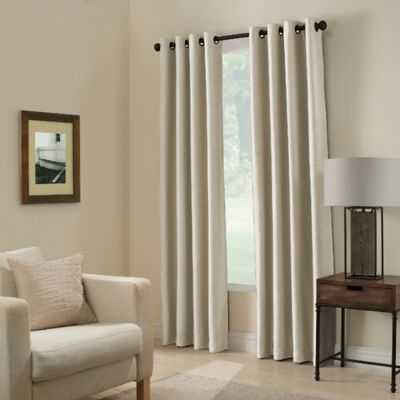 Paradise 84-Inch Room Darkening Window Curtain Panel in Ivory - Bed Bath & Beyond