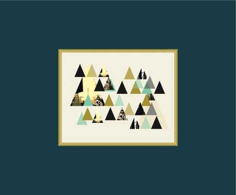 "Modern Geometric Wall Art - 8"" x 10"" - Unframed - Etsy"