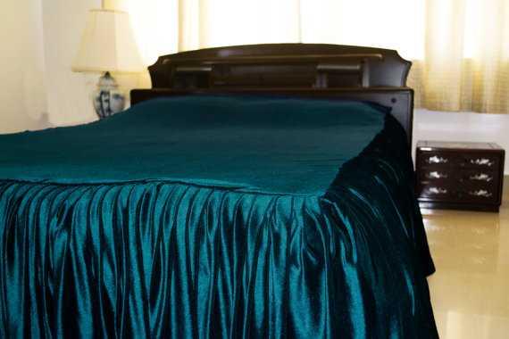 Teal Velvet bedding - Etsy