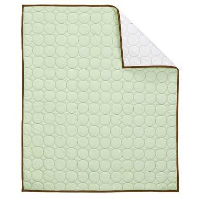 Bacati Quilted Baby Quilt Green/Chocolate - Target