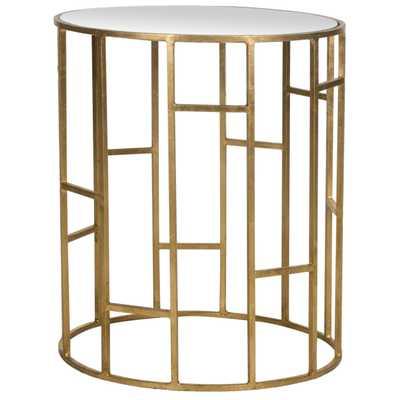 Treasures Doreen Gold/ Mirror Top Accent Table - Overstock