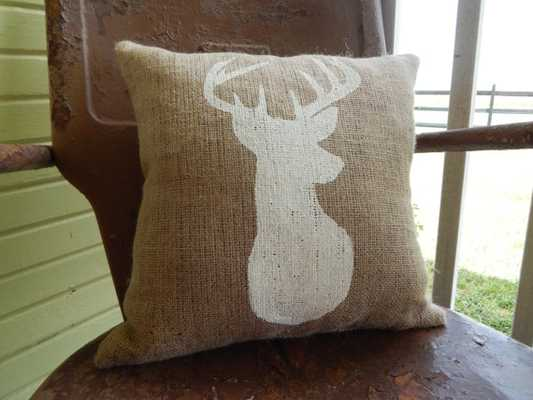 "Burlap Pillow - 16""x16"" - Brown - Insert sold seperately - Etsy"