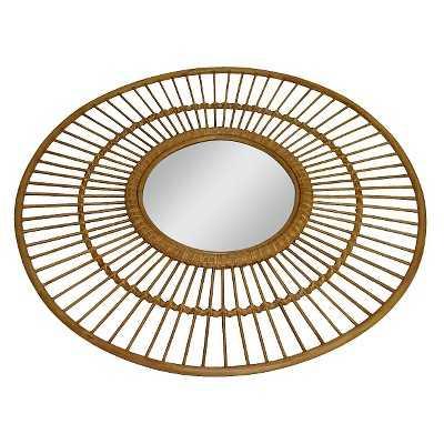 Wicker Rim Round Mirror - Target