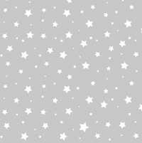 Stars - Grey/White - Walnut Wallpaper