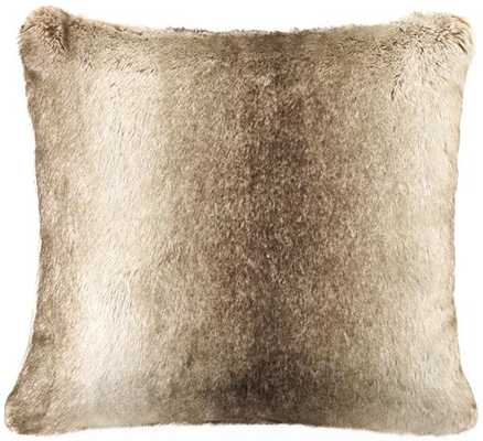 Chinchilla faux fur decorative pillow - Home Decorators