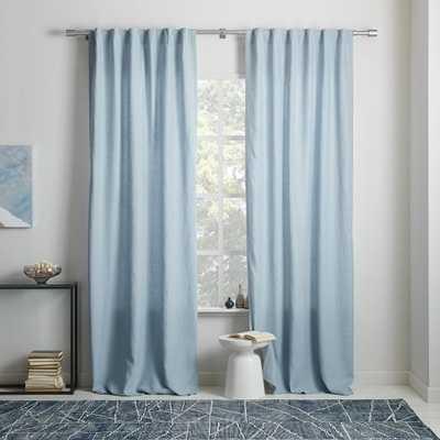 "Belgian Flax Linen Curtain - Moonstone - 108""l x 48""w - West Elm"