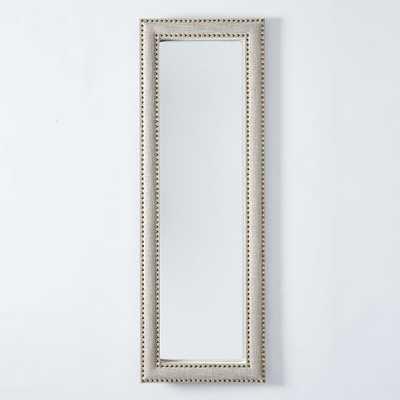 Upholstered Floor Mirror - Doe Linen - West Elm