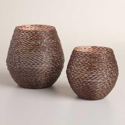 Archer Copper Tealight Holder - World Market/Cost Plus