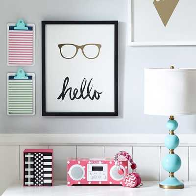 New York Hello Glasses - 16x20 - Framed - Pottery Barn Teen