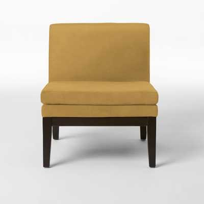 Slipper Chair - Performance Velvet, Goldengate - West Elm
