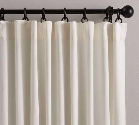 "Cameron Cotton Pole Pocket Drape - Ivory, 96""L - Pottery Barn"